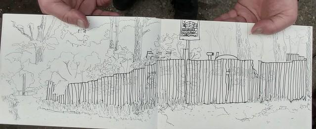 Presentation of Vake Park Presentation sketched by Martin Zentner.