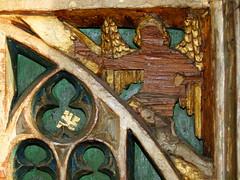 Mattishall screen:  Angel Gabriel at the Annunciation (15th Century)