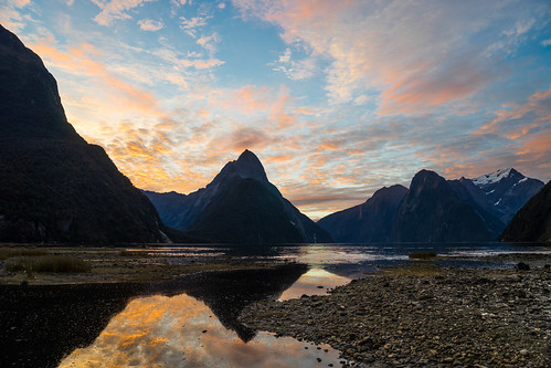 Milford Sound Sunset   by Mike Beauchamp