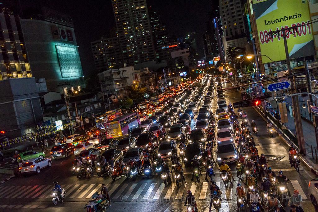 And so, on to Bangkok...quite a traffic jam - blocked both ways at Asoke junction