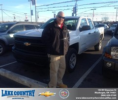 #HappyAnniversary to Luciano Vieira on your 2014 #Chevrolet #Silverado 1500 from Matt  Madewell at Lake Country Chevrolet Cadillac!