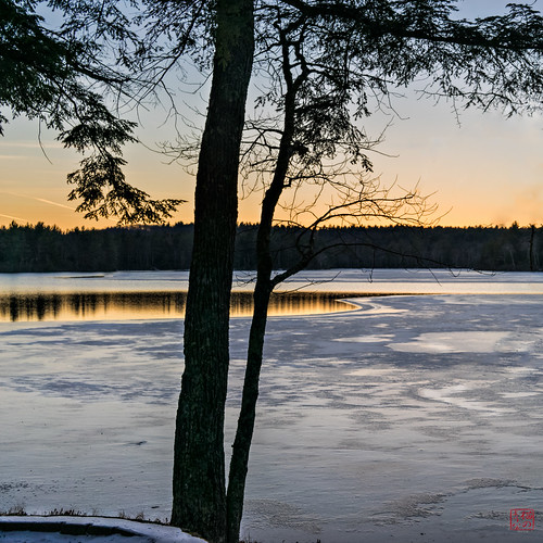 sunset lake casspond winter2014