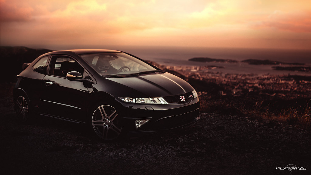 honda civic fn2 type r at sunset canon 5d mark 3 sigma. Black Bedroom Furniture Sets. Home Design Ideas