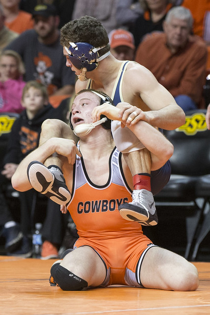 Oklahoma State Cowboys vs Pittsburgh Panthers Wrestling Match, Sunday, January 18, 2015, Gallagher-Iba Arena, Stillwater, OK