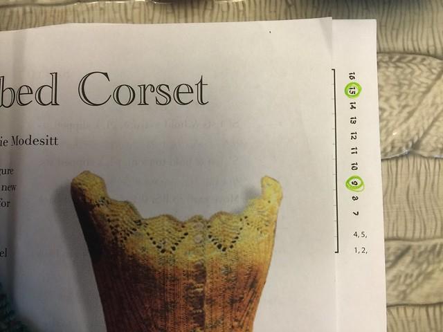 Kicking off the ModeKnit Yarns Corset KAL: Marking buttonholes
