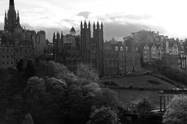 Mound Place with New College, University of Edinburgh