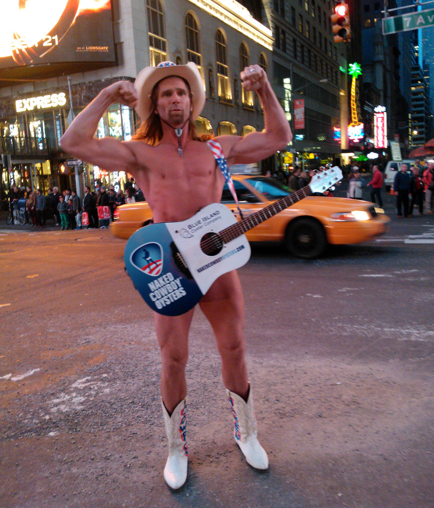 Times Square Naked Cowboy blow Job - YouTube