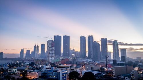 morning sunrise cityscape manila pasig