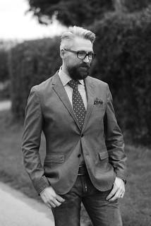 Menswear: Jacket, Skinny Jeans, Shirt and Tie | by silverlondoner