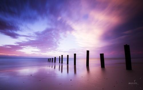blue sunset seascape reflection beach clouds canon skyscape landscape mirror long exposure purple south magenta australia adelaide spine southaustralia moana waterscape 6d leefilter bigstopper