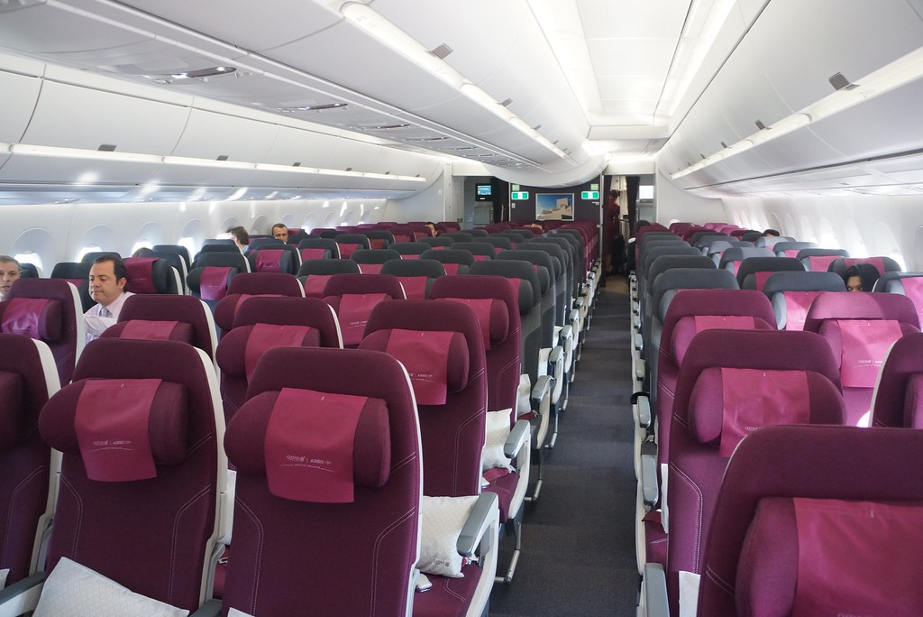 QATAR AIRWAYS FIRST AIRBUS A350 DELIVERY FLIGHT ECONOMY CLASS DEC 2014 - 4