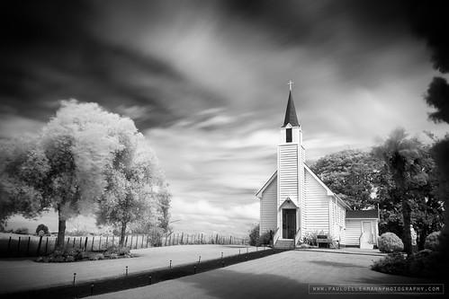longexposure church landscape ir blackwhite infrared bayofplentynz leebigstopper niksilverefexii canoneosm