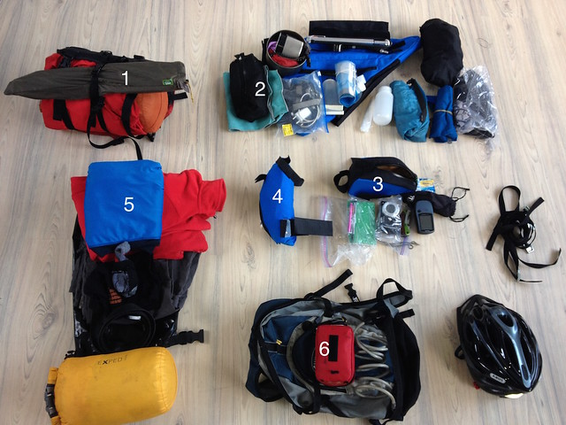 Shane's bikepacking kit list