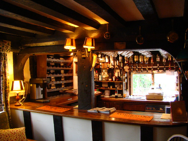 Bar at Rhydspence Inn Whitney-on-Wye