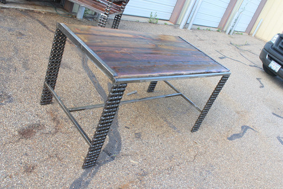 Rustic Dining Table - Writing Desk - Unique Furniture - Ki ...