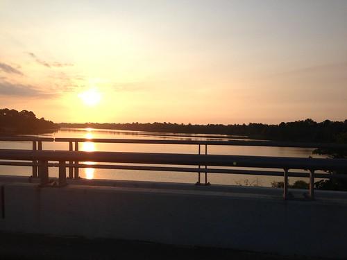 morning lake sunrise texas houston