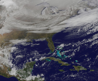Satellite Picture Shows the Snow-covered U.S. Deep Freeze | by NASA Goddard Photo and Video