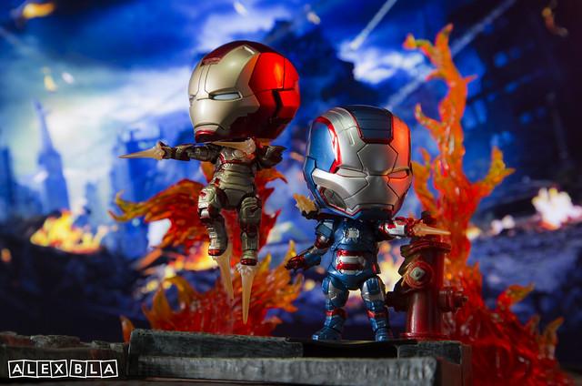 Iron Man and Iron Patriot Nendoroid