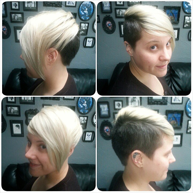 Kristy's new haircut  We did an undercut with versatile pl… | Flickr