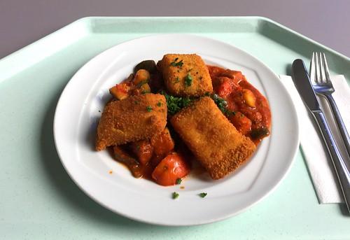 Baked polenta slices with ratatouille / Gebackene Polentaschnitten mit Ratatouille | by JaBB