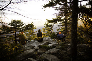 Mike, Lauren & Snickers Enjoying Sunset from the Campsite. | by lifeinthedistrict