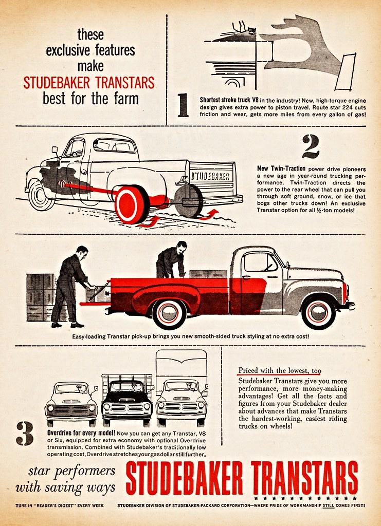 1956 Studebaker Transtar Trucks | Ad from Farm Journal Magaz