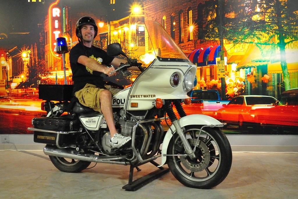 Steve on a Kawasaki KZ1000 Police bike | American Police Hal… | Flickr