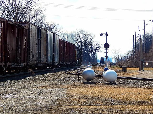 Southbound CSX at Deshler Ohio