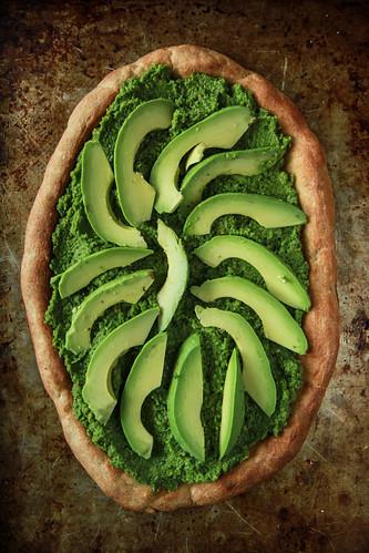 Green Goddess Pizza- Vegan and Gluten Free from HeatherChristo.com | by Heather Christo