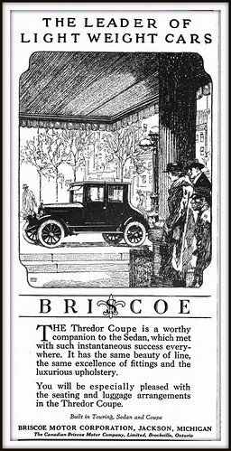 1920 The Leader in Light Weight Cars, BRISCOE -  Thredor Coupe - BRISCOE MOTOR  CORP, Jackson. Michigan | by carlylehold