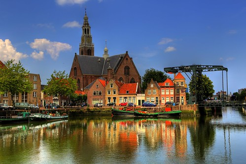 bridge holland reflection church water netherlands canon landscape photography eos nederland full frame fullframe paysage kerk rik maassluis groote landschap 6d reflectie ef24105mmf4lisusm tiggelhoven