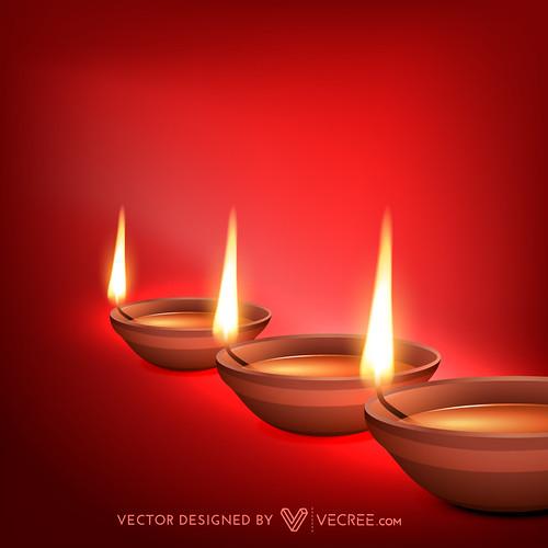 diwali diya   by vecree.com