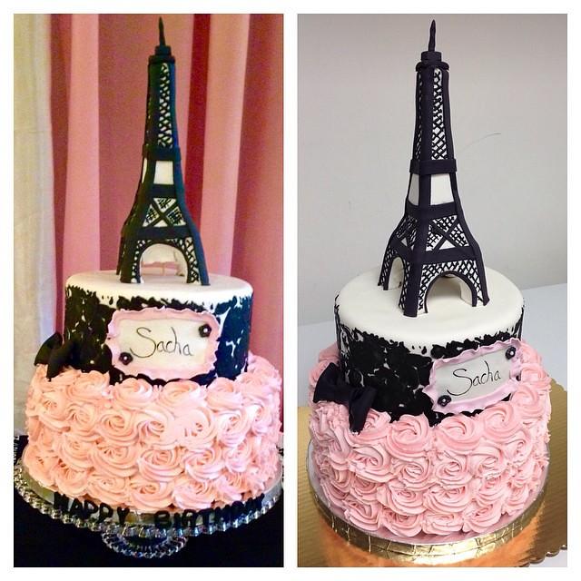 Brilliant Parisian Themed Birthday Cake Paris Eiffel Tower Cu Flickr Funny Birthday Cards Online Aeocydamsfinfo
