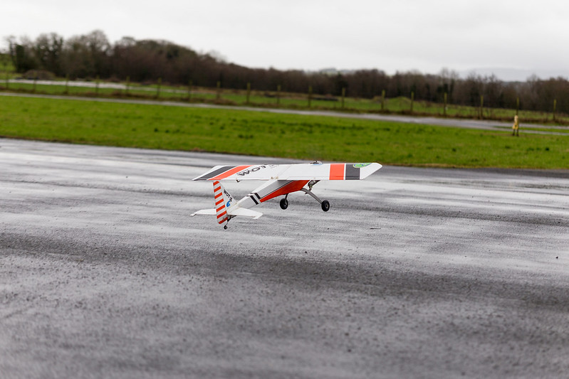 Arthur taking off in extremely windy conditions.
