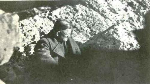El General Kreipe en el escondite del Monte Ida