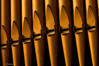 Detail of organ pipes in Knox College - Doors Open Toronto   by Phil Marion
