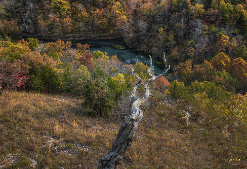 statepark county cliff usa lake fall beautiful photoshop canon landscape woodlands october scenery afternoon unitedstates camden scene mo deadtree missouri nik lakeoftheozarks ozarks hdr highdynamicrange bluff 2014 hahatonka photomatix 60d canoneos60d stevefrazierphotography