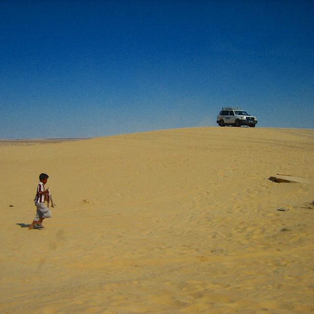 Hard work in desert