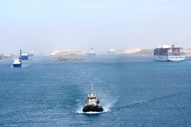 North To South Transit Of Suez Canal