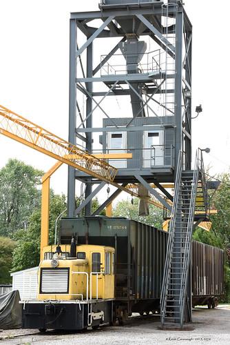 trains railroads elevator structure locomotive ge 25ton monroeville ohio