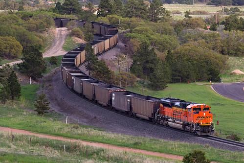 railroad train colorado bnsf palmerlake emd coaltrain sd70ace jointline palmerdivide oneunitwonder bnsf9120