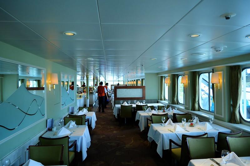 Amadea Restaurant, le restaurant buffet du navire - Visite du paquebot AMADEA - Bordeaux, 16 septembre 2015