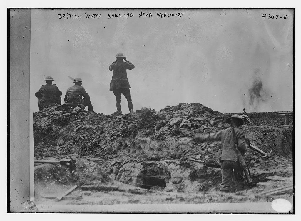 British watch shelling near Wancourt (LOC)