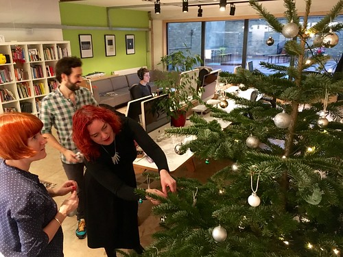 Decorating the @Clearleft Christmas tree. 🎄 | by adactio