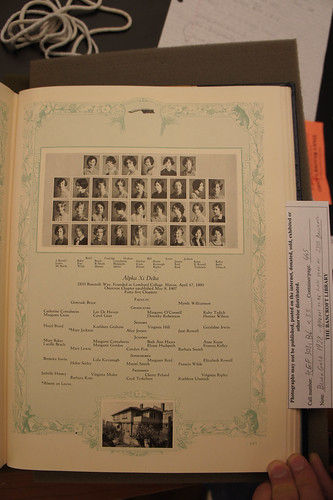 1928 Alpha Xi Delta Blue and Gold yearbook page | by Anthro136k Who Owns the Past