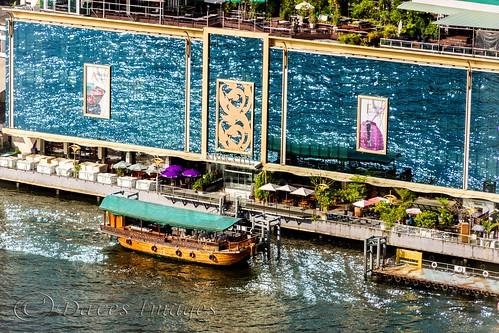 vacation holiday reflection water gardens reflections river thailand hotel boat flickr bangkok restaurants colourful th watermark sunnyday cityview chaophrayariver millenniumhilton watermarked krungthepmahanakhon davidedwards daveedwards theriverfront canoneos7d dave01 davesimages efs1585isusm dredangler daveso1