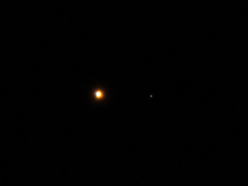 火星と海王星の接近 (2017/1/1 17:42)