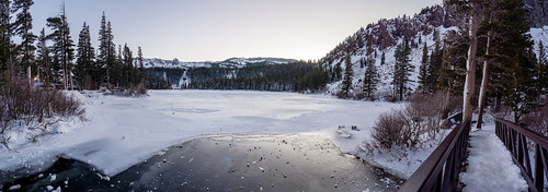 emount landscape samyang12mmf20ncscs mammothlakes availablelight photoshop panorama twinlakes 5xp bluehour monochrome nature outdoor bridge sonyα6300 winter snow norcal lightroom frozen ilce6300 sony a6300 ambientlight e lake lowlight outdoors pano water wideangle california unitedstates us