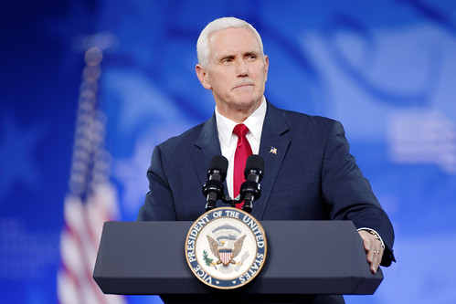 Vice President Mike Pence at CPAC 2017 | by Michael Vadon