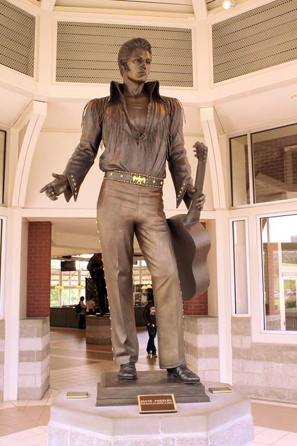 Elvis Presley Statue - Downtown Memphis Welcome Center